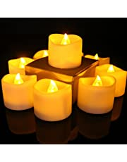 12pcs Flameless LED Tea Light Candles with Timer Electric Battery Operated Flickering Votive Candle for Wedding Party Christmas Window Festival Celebration Home Decor