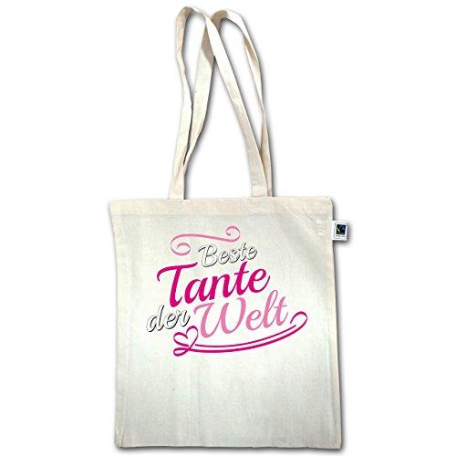 Sorella E Zia - Migliore Zia Del Mondo - Unisize - Natural - Xt600 - Manico Lungo In Juta Bag