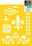 Delta Creative Stencil Mania Stencil, 7 by 10-Inch, 970610710 Decor Accents