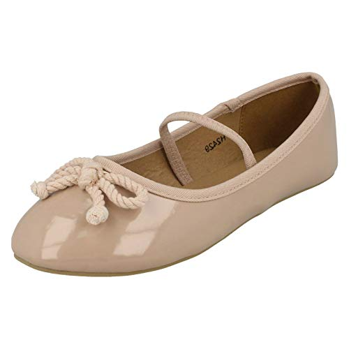 Elastic On Ballerinas Girls Nude Spot Beige Bar pS1Ew1q