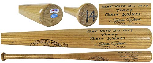 (Reds Pete Rose Signed 1978 Game Used LS R195 Bat GU Graded 9! #1B15282 - PSA/DNA Certified - MLB Autographed Game Used Bats)