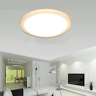 VIPMOON LED Ceiling Lights, 46 LED 24W Round Flush Mount Lighting Ceiling Down Light Fixture
