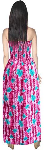 Vestido la Mujer del de baño Rosa la Tubo de Desgaste Correas Encubrimiento Playa Maxi Falda para baño LEELA de de LA Traje g933 la de de Tarde Traje de wSHv0n4qE