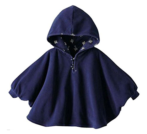 Ropa de bebé Capa para bebés Mantones gruesos Capa doble cara azul oscuro