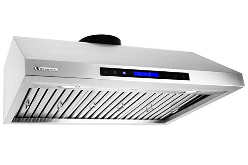 XtremeAir PX12-U36, 36'',LED Lights, Baffle Filter W/ Grease Drain Tunnel, 1.0mm Non-Magnetic Stainless Steel, Under Cabinet Mount Hood by XtremeAIR (Image #2)