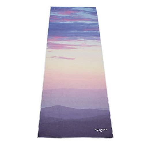 The Breathe Hot Yoga Towel. Eco-friendly, Mat-sized, Lightweight, Insanely Absorbent, Non-slip, Microfiber Yoga Towel That Dries in Minutes.