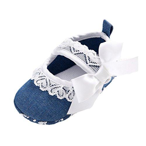 Leap Frog  Lace Mary Jane, Baby Mädchen Lauflernschuhe Blau