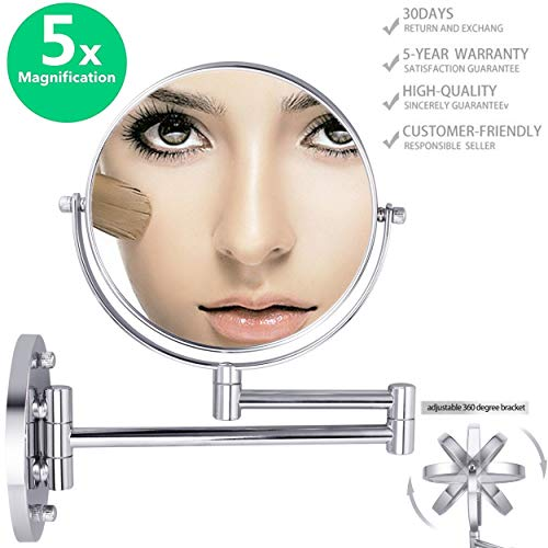 Double-Sided Magnifying Makeup Mirror, 6.7