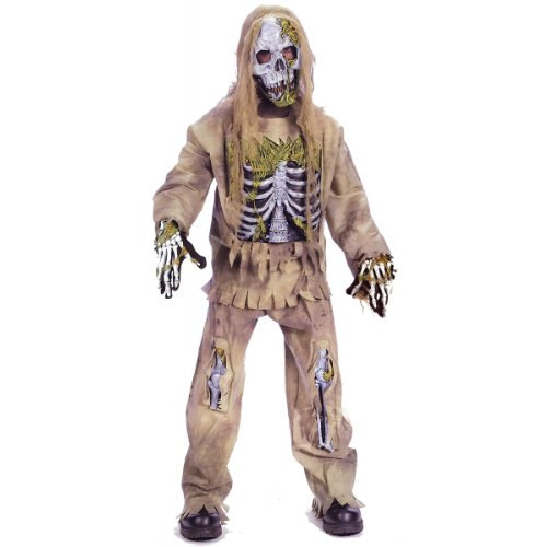 Skeleton Zombie Costume - Medium -