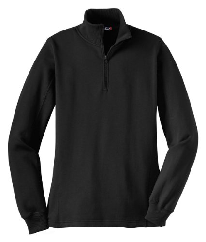 Sport-Tek Women's 1/4 Zip Sweatshirt M Black