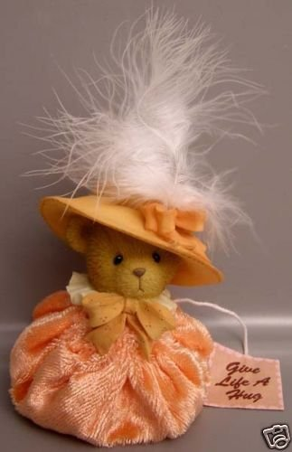 (Cherished Teddies Peach Spring Bonnet)