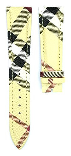 22mm Leather Watch Strap For BU9357 Watches - Replacement Burberry Strap