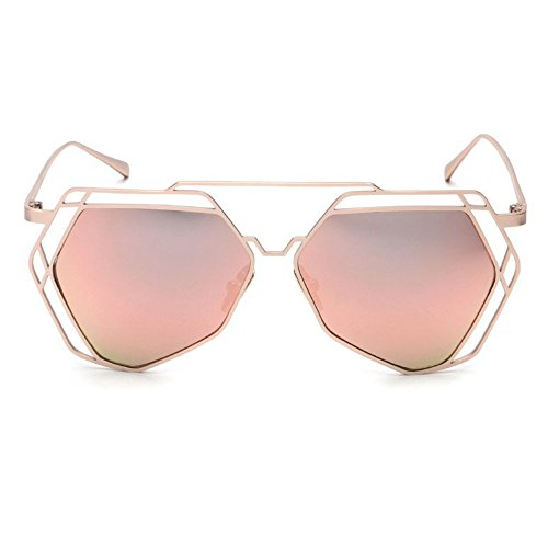 [TIJN Flash Mirror Cut-out Sunglasses Geek Sunwear] (Geek Chic Glasses)