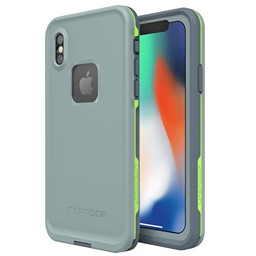 Lifeproof FRĒ SERIES Waterproof Case for iPhone X (ONLY) - Retail Packaging - DROP IN (ABYSS/LIME/STORMY WEATHER)