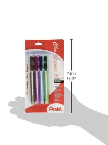 R Clic Erasers/™ Pentel Pack Of 4 Black Barrel