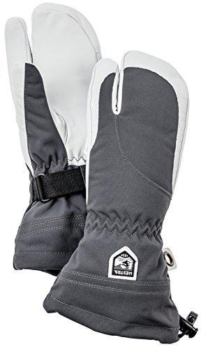 Hestra Women's Heli 3-Finger Gloves グレー Size 6 [並行輸入品]