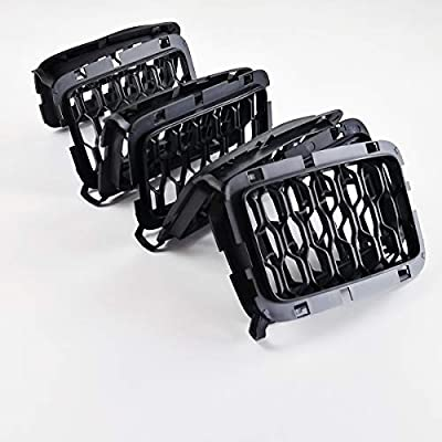 Latest Honeycomb Matte Mesh Black Front Grill Inserts Fits Jeep Grand Cherokee 2020, 2020, 2020, 2020 7PC: Automotive