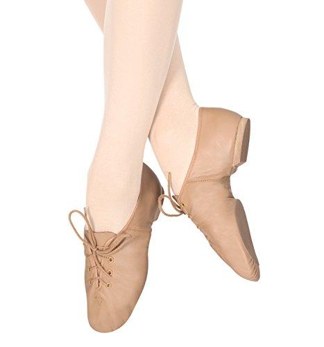 Girls Lace Up Jazz Shoes,T7302CTAN13.0M,Tan,13.0M