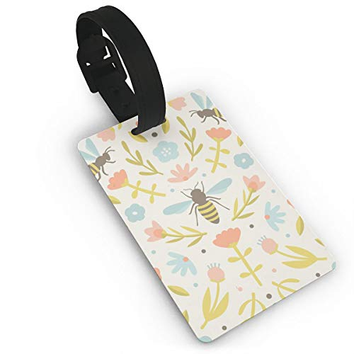 - Shsi4shi4 Cute Flowers and Bees Vector Travel Luggage Suitcase Labels ID Tags Business Card Holder
