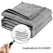 Balichun Weighted Blanket for Adults 3.0 Heavy Blanket  100% Breathable Cotton Material with Glass Beads