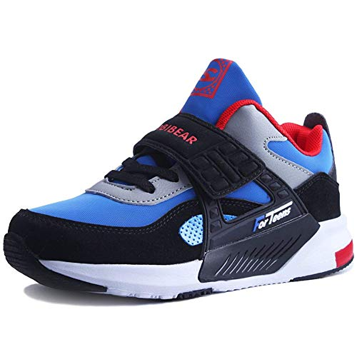 Boys Gym Shoes (LINGMAO Daily Boy Sneakers Cute Casual Tennis Running Shoes for Unisex Kids(Blue,31))