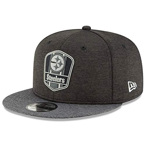 ボトルネックぐるぐる沈黙ニューエラ (New Era) スナップバック キャップ - ブラック サイドライン ピッツバーグ?スティーラーズ (Pittsburgh Steelers)
