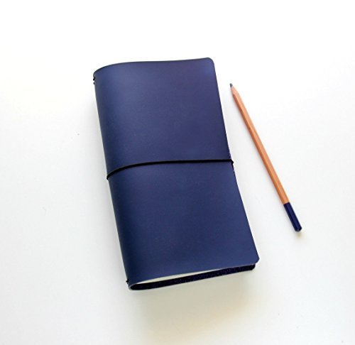 Edition Insert (Travelers Notebook Blue Edition Style in Modern Matte with Quad Binding to Hold Multiple Notebook Inserts.)