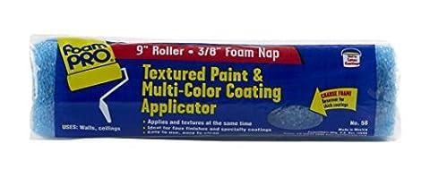 FoamPRO 58 Texture & Multicolor Paint Applicator, 9 x 3/8 by Foampro - 9 Applicators