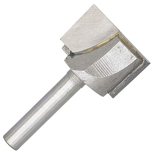 - Carbide Tipped Cleaning Bottom Router Bit Cutter Double Flute 1-Inch Cutting Dia 1/4-Inch Shank