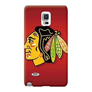 Scratch Resistant Hard Phone Case For Samsung Galaxy Note 4 (JkP4210XuGB) Custom Realistic Chicago Blackhawks Pictures