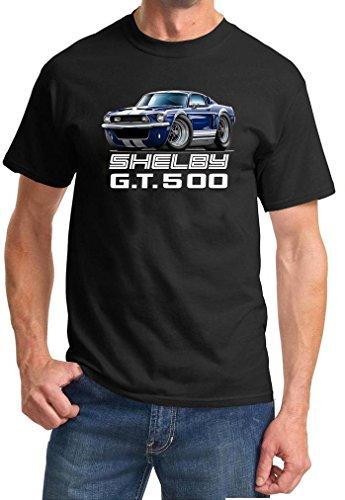 1968 Shelby GT500 Mustang Fastback Full Color Design Tshirt Large Black (1967 Shelby Gt500 Eleanor Super Snake For Sale)