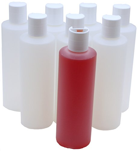 - J&S (8 Pack) 8 Oz Empty Plastic Bottles + Disc Flip Caps - The Perfect Dispenser for Shampoo, Soap, Lotion and Body Wash - Portable, Reusable, Leak Proof and BPA Free – Excellent For Home or Travel!