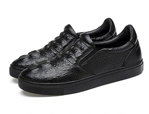 Chaussures Pour Hommes En Cuir Casual Slip-on Oxford Faux Crocodile Sneakers Mocassins Taille 39to 45