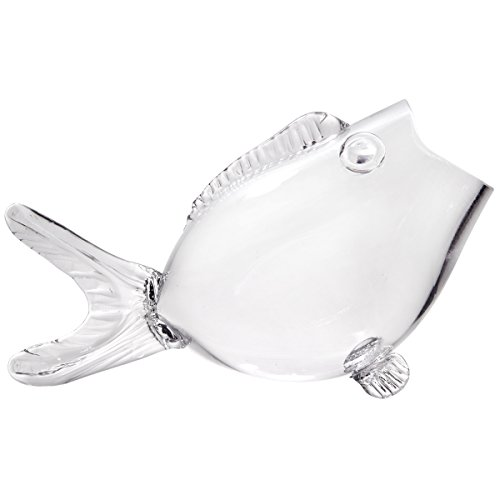 (Clear Fish Bowl - Clear Fish Shaped Bowl (15