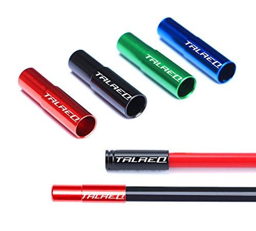 5mm Aluminum Alloy Bike Brake Cable Housing End Caps Ferrules,4 Colors options, 10pcs /bag (Red)