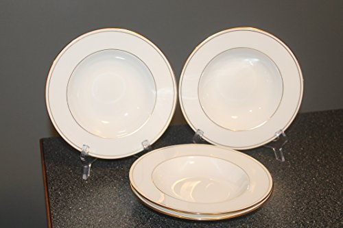 LENOX Federal Gold SET/4 Rimmed Soup Bowls- STUNNING ~Classics Collection, Gold Trim & Verge~Discontinued 1987 - ()