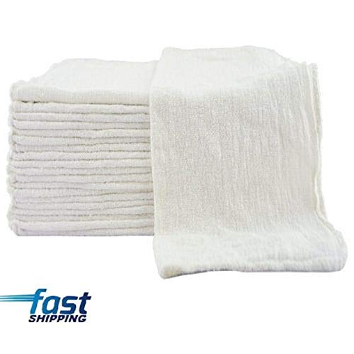 Best White Shop Towels Shop rag Mechanics 13x13 100 Pack