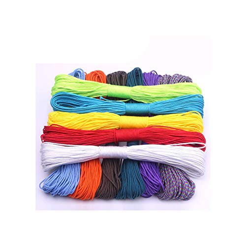 100 Colors Paracord 2mm 100 FT,50FT One Stand Cores Paracord Rope Paracorde Cord for Jewelry Making,Gray,31m