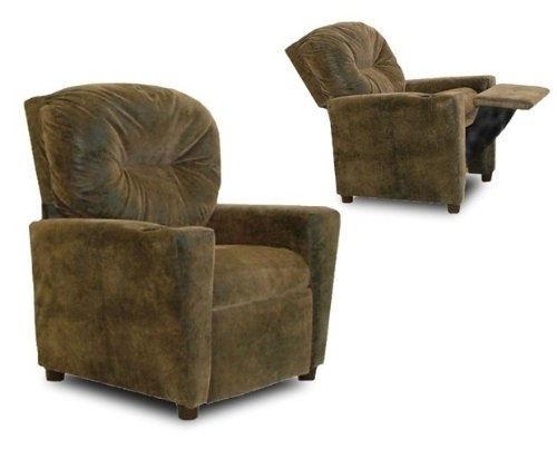 Dozydotes Child Recliner with Cup Holder Brown Bomber DZD9949 ()