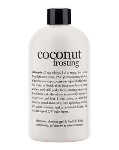 Philosophy Coconut Frosting 3 In 1 Shampoo, Shower Gel & Bubble Bath 480Ml (Bubble Bath Coconut Frosting)