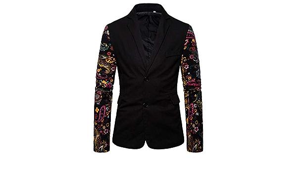 Tosonse Blazer para Hombre Vestido Estampado Étnico Vintage ...