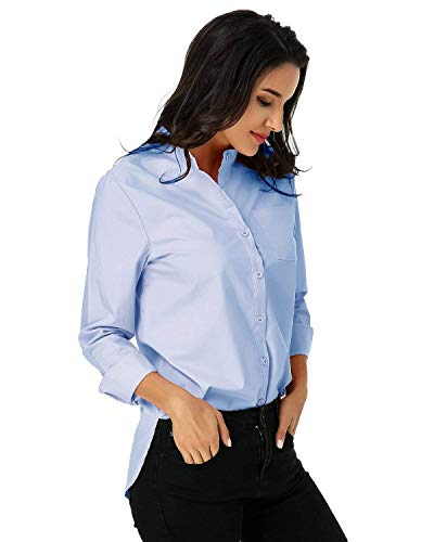Affaires Elgante Rayures Femme Shirt Tops Style Spcial blau Manches Automne Revers Simple Branch Blouse Longues Printemps Chemise Boutonnage X Loisir Office F4YqnZY