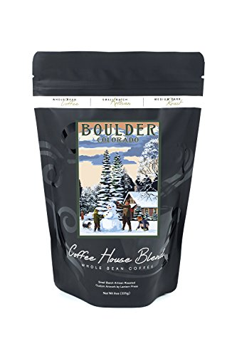 Boulder, Colorado - Snowman Scene (8oz Whole Bean Small Batch Artisan Coffee - Bold & Strong Medium Dark Roast w/ Artwork) Boulder Small Wall Lantern