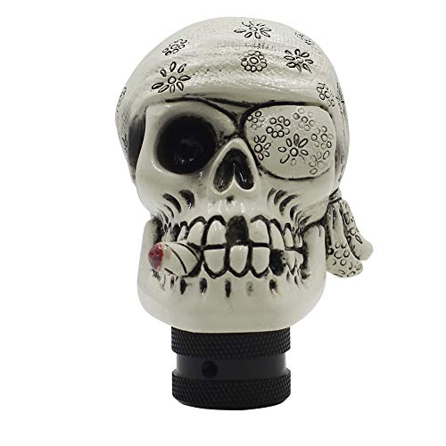 Sakali Unique One Eye Skull Car Gear Stick Shift Shifter Knob Universal fit for Most Manual Transmission or Automatic Transmission Without Lock Button(Red)