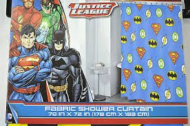 Image Unavailable Not Available For Color DC Comic Justice League Shower Curtain