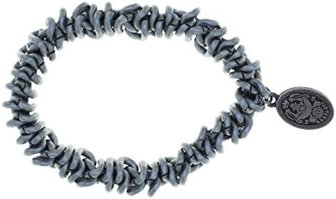 Konplott Armband Bead Snakes grey dark antique silver matt