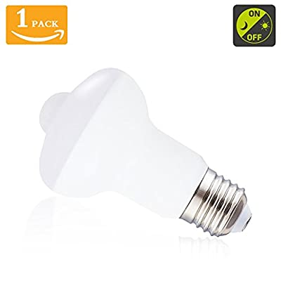 Motion Sensor Light Bulb 7W Smart Bulb Radar Dusk to Dawn LED Motion Sensor Light Bulbs,700lumens E26 Base Indoor Sensor Night Lights Warm White 2700K Outdoor Motion Sensor Bulb Auto On/Off (1 Pack)