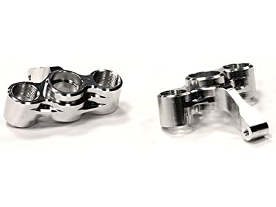 Integy Hobby RC Model Hop-ups T8260SILVER Billet Machined Steering Knuckles for Hyper 10SC