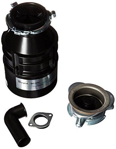 Whirlpool GC1000PE 1/3 hp in Sink Disposer, Black by Whirlpool