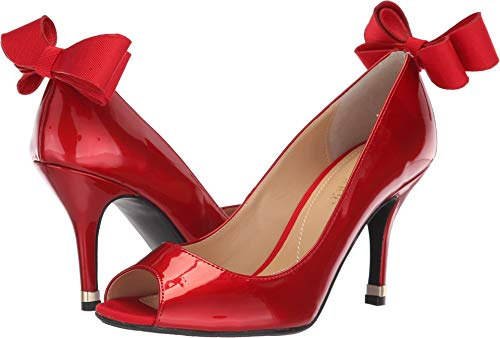 J. Renee Women's Ellasee Red 13 W (J Renee Peep Toe Heels)